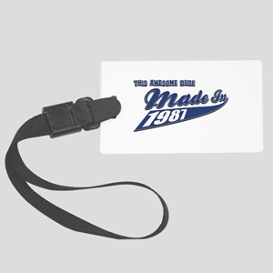 Made in 1987 Large Luggage Tag