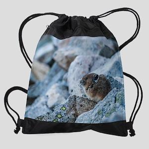 Pika on watch Drawstring Bag