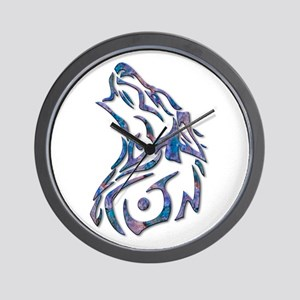 Tribal Wolf Art 9 Wall Clock