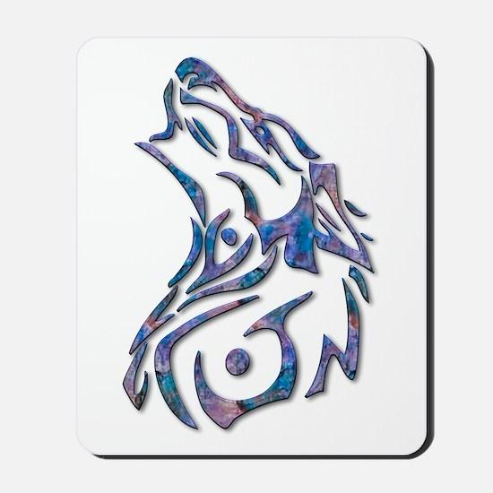 Tribal Wolf Art 9 Mousepad