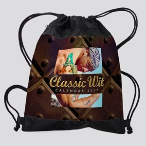 class wit cal for 2017 Drawstring Bag