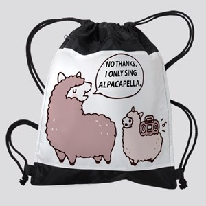 Acapella Humor Drawstring Bag
