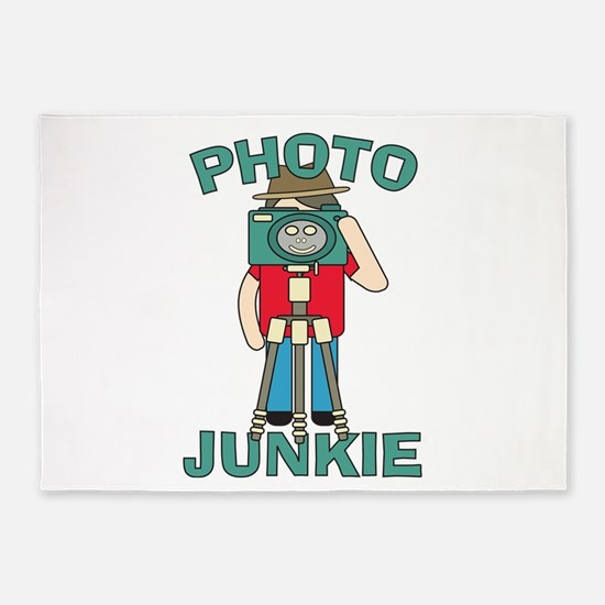 Funny photographer Photo Junkie des 5'x7'Area Rug