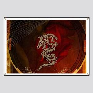 Awesome dragon, tribal design Banner