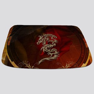 Awesome dragon, tribal design Bathmat