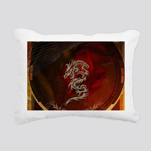 Awesome dragon, tribal design Rectangular Canvas P