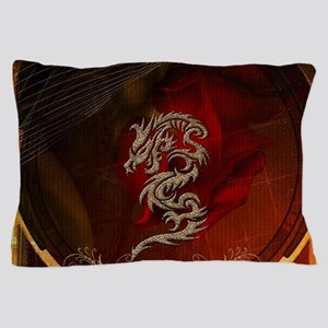 Awesome dragon, tribal design Pillow Case