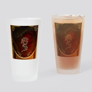 Awesome dragon, tribal design Drinking Glass