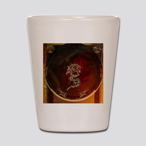 Awesome dragon, tribal design Shot Glass