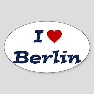 I HEART BERLIN Oval Sticker