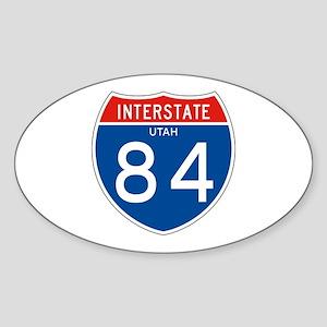 Interstate 84 - UT Oval Sticker
