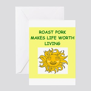 roast pork Greeting Card