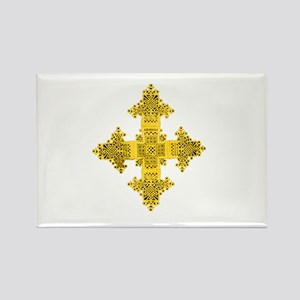 Ethiopia Cross Rectangle Magnet