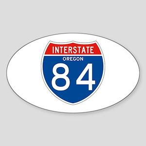 Interstate 84 - OR Oval Sticker