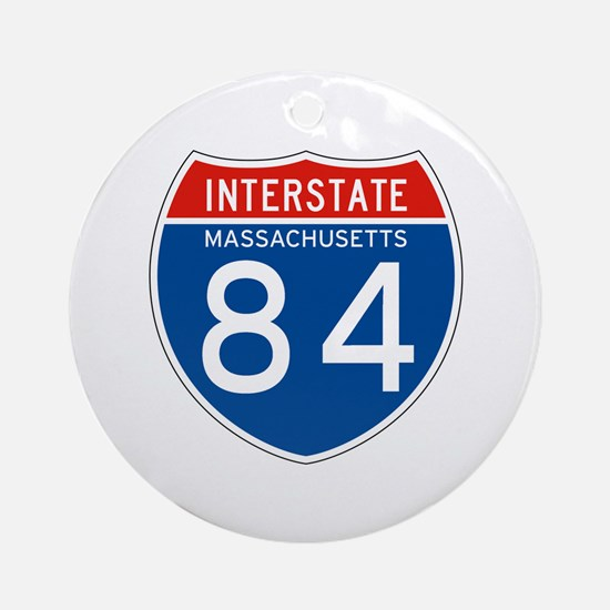 Interstate 84 - MA Ornament (Round)