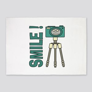 Funny photographer Smile design 5'x7'Area Rug