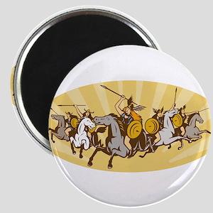 Valkyrie Riding Horse Retro Magnet