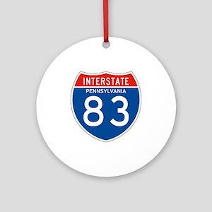 Interstate 83 - PA Ornament (Round)