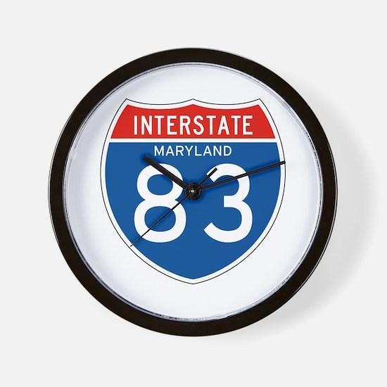 Interstate 83 - MD Wall Clock