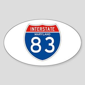 Interstate 83 - MD Oval Sticker