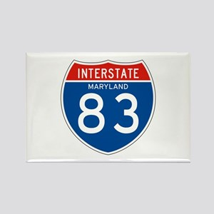 Interstate 83 - MD Rectangle Magnet