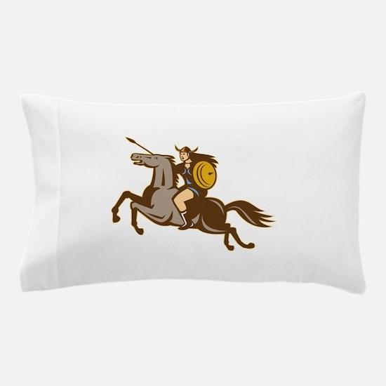Valkyrie Riding Horse Retro Pillow Case