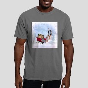 Christmas, santa Claus with reindeer Mens Comfort
