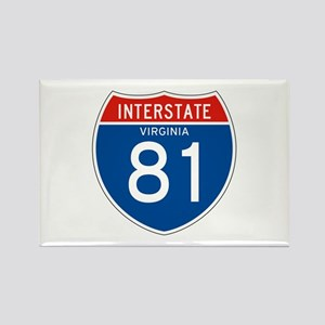 Interstate 81 - VA Rectangle Magnet