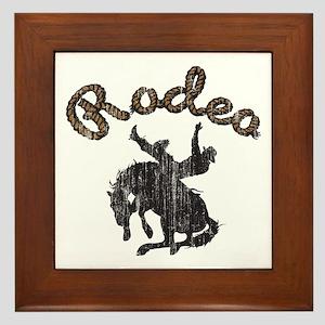 Retro Rodeo Framed Tile