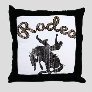 Retro Rodeo Throw Pillow