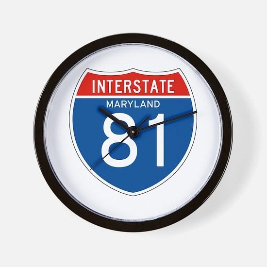 Interstate 81 - MD Wall Clock