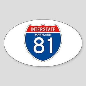 Interstate 81 - MD Oval Sticker