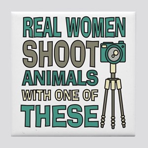Real women Photographer Tile Coaster