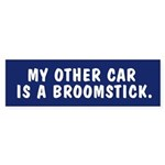 My other car is a broomstick Bumpersticker