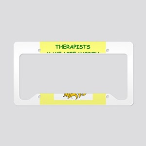 THERAPIST License Plate Holder