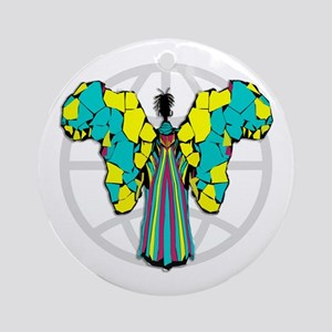 African Butterfly Ornament (Round)