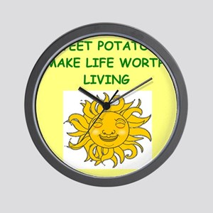 SWEET potatoes Wall Clock