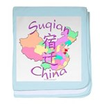 Suqian China Map baby blanket
