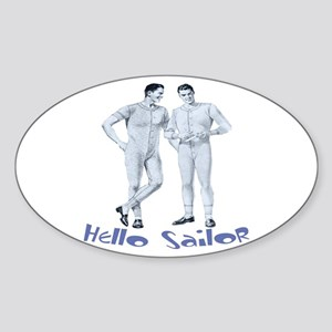 HELLO SAILOR Oval Sticker
