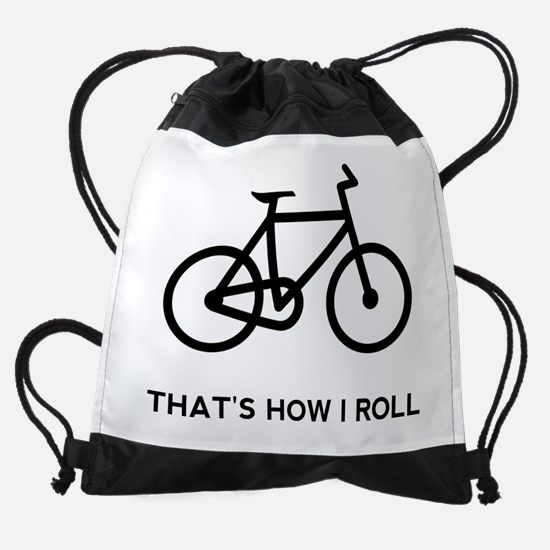 Funny Bicycle Drawstring Bag