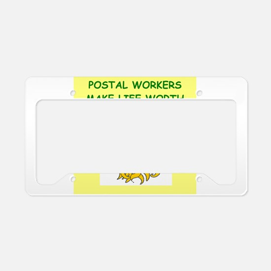 postal workers License Plate Holder