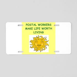 postal workers Aluminum License Plate