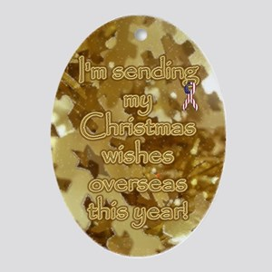 Christmas Wishes Oval Ornament