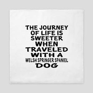 Traveled With Welsh Springer Spaniel D Queen Duvet