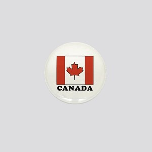 Canadian Flag Mini Button
