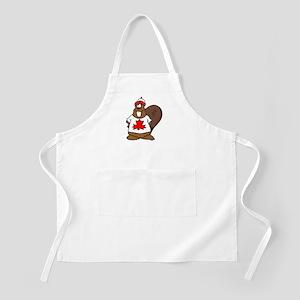 Canadian Beaver BBQ Apron