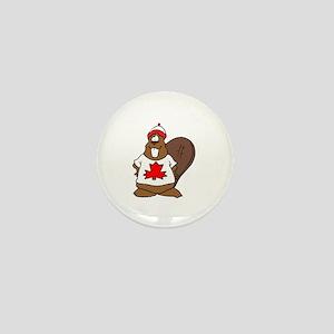 Canadian Beaver Mini Button