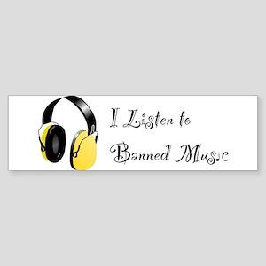 Banned Music! Bumper Sticker