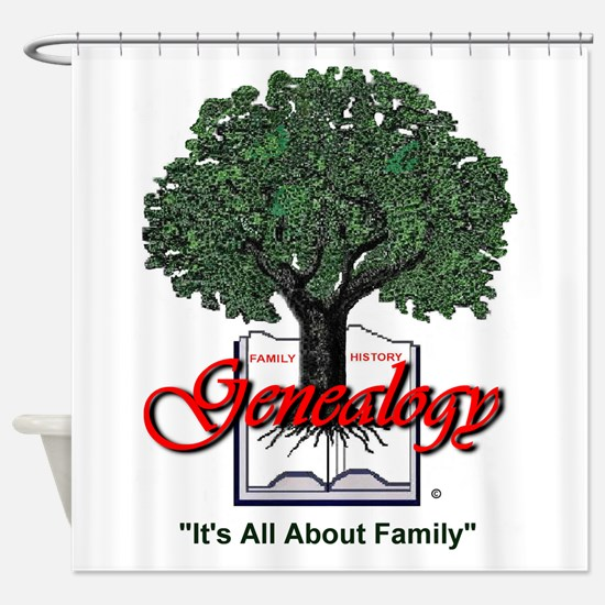 It's All About Family Shower Curtain