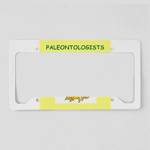 paeontologist License Plate Holder